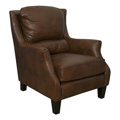 Ross Bonded Club Chair Upholstery: Brown