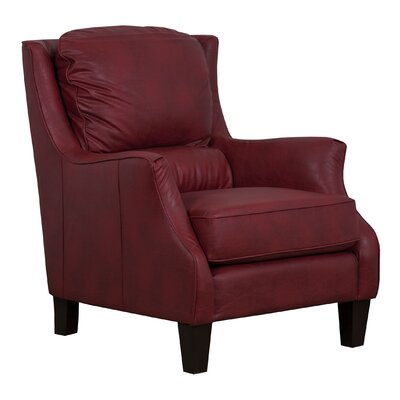 Ross Bonded Club Chair Upholstery: Red