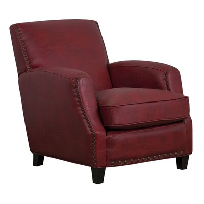 Sarah Marco Bonded Leather Club Chair Color: Red