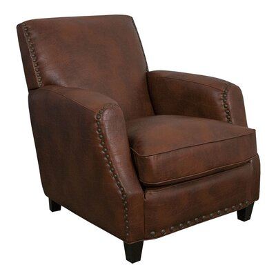 Sarah Marco Bonded Leather Club Chair Color: Brown