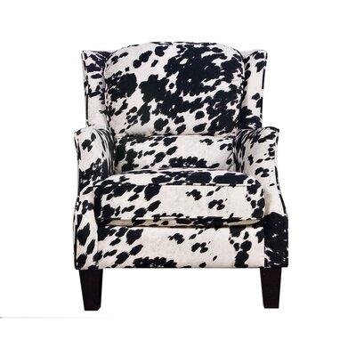 Ross Cow Black Club Chair