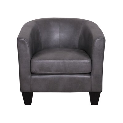 Ellen Bonded Leather Barrel Chair