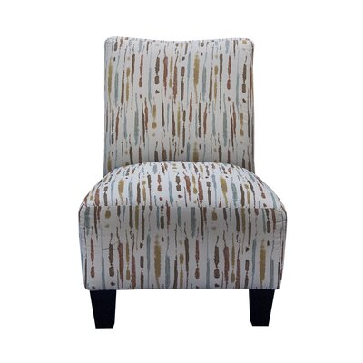Grafton Spattered Armless Slipper Chair and Ottoman