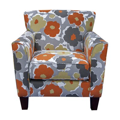Floral Orange Crush Accent Chair