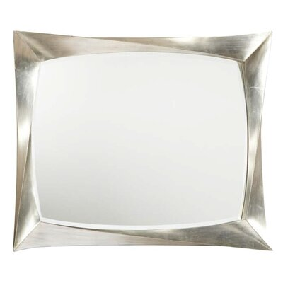 accented rectangular wall mirror