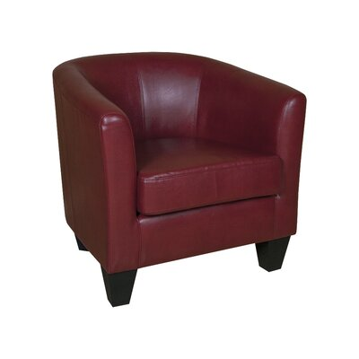 Ellen Barrel Chair Upholstery: Red