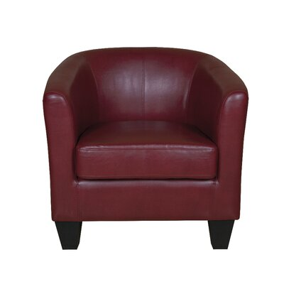 Colden Barrel Chair Upholstery: Red