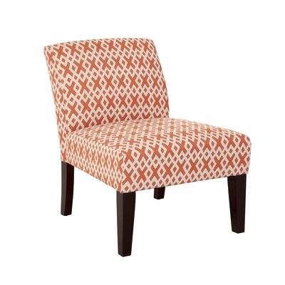 Hurlbert Orange Lattice Armless Slipper Chair