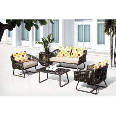 Finest 5 Piece Deep Seating Group with Cushion