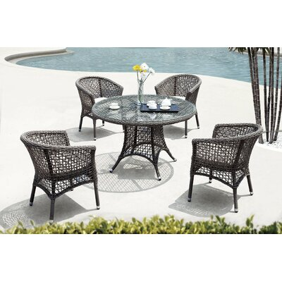 Premium 5 Piece Dining Set with Cushion