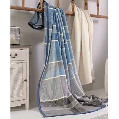 Sorrento Coastal Plaid Oversized Throw Blanket