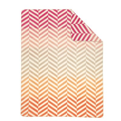 Sorrento Pastel Chevron Jacquard Oversized Throw Blanket