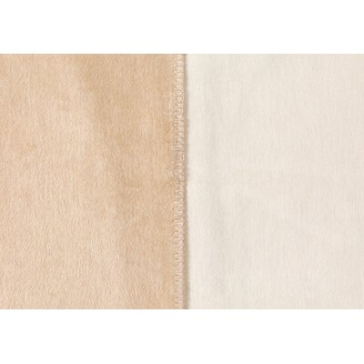 Sorrento Reversible Blanket Color: Natural/Ivory, Size: Queen