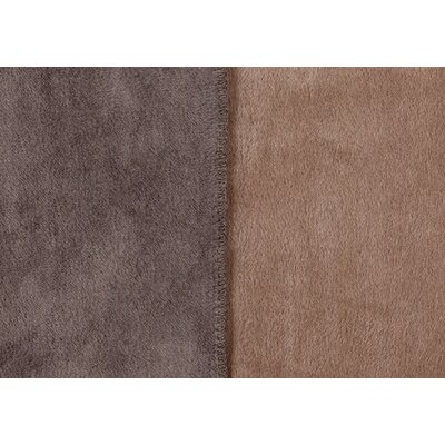 Sorrento Reversible Blanket Size: Queen, Color: Dark Taupe /Taupe