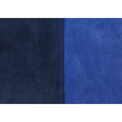 Sorrento Reversible Blanket Size: King, Color: Navy/Royal