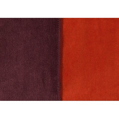 Sorrento Reversible Blanket Size: King, Color: Aubergine/Rust