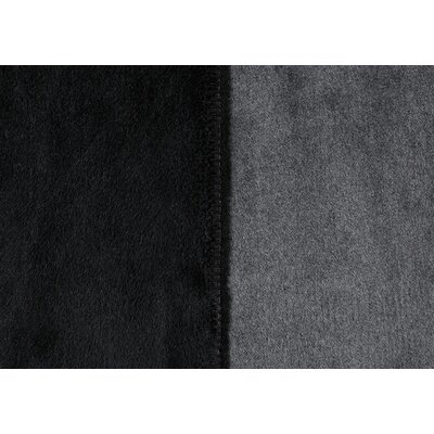 Sorrento Reversible Blanket Size: King, Color: Midnight/Smoke