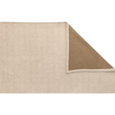 Oliver Jacquard Herringbone Oversized Reversible throw blanket Color: Dune