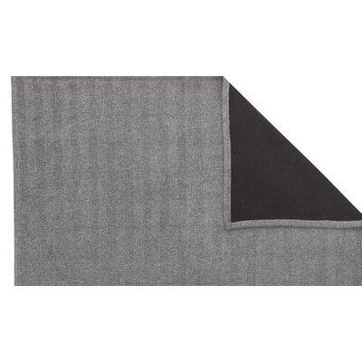 Oliver Jacquard Herringbone Oversized Reversible throw blanket Color: Graphite