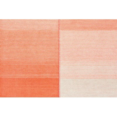 Ombre Stripe Oversized Throw Color: Orange/Ivory
