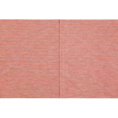 Mini Stripe Oversized Cotton Throw Blanket Color: Orange