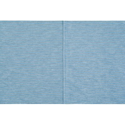Mini Stripe Oversized Cotton Throw Blanket Color: Light Blue