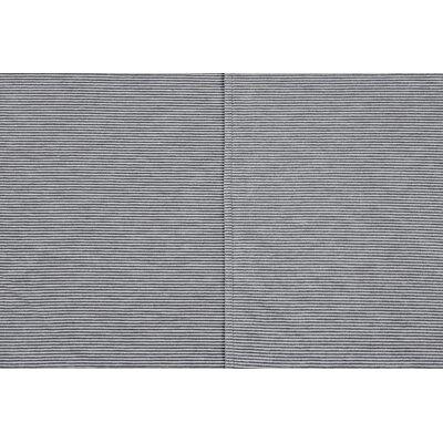 Mini Stripe Oversized Cotton Throw Blanket Color: Gray