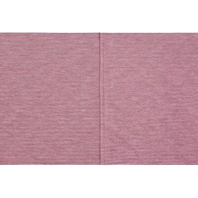 Mini Stripe Oversized Cotton Throw Blanket Color: Red