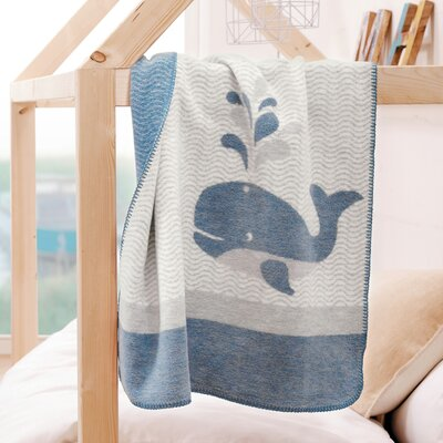 Whale Baby Throw Blanket
