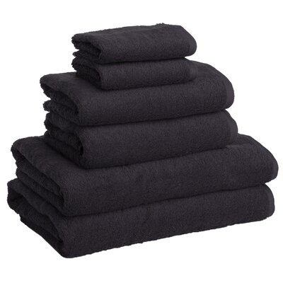 New Generation 6 Piece Towel Set Color: Grey Anthrazite