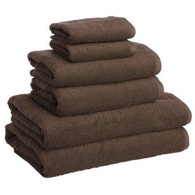 New Generation 6 Piece Towel Set Color: Cocoa