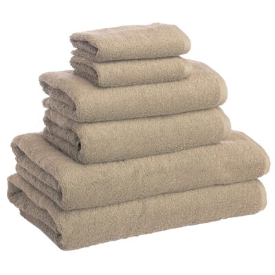 New Generation 6 Piece Towel Set Color: Beige Tibet
