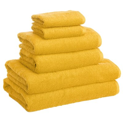 New Generation 6 Piece Towel Set Color: Yellow Honey
