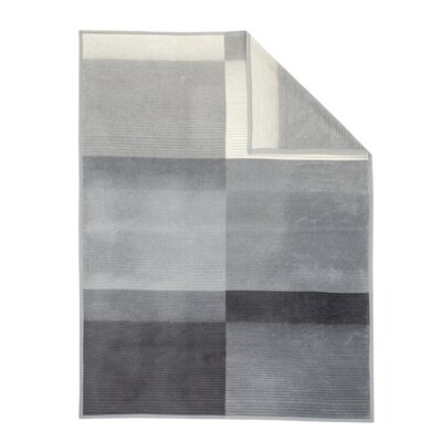 Sorrento Block Stripe Oversized Throw Color: Grey/Ivory