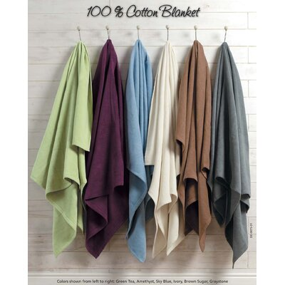 Fieldsboro Pure Cotton Blanket Size: King