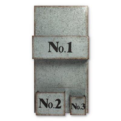 Lone Elm Studio Galvanized Metal Wall File Pockets