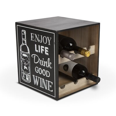 Lone Elm Studios 6 Bottle Tabletop Wine Bottle Rack