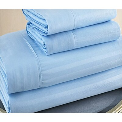 300 Thread Count 100% Cotton Sheet Set Color: Blue