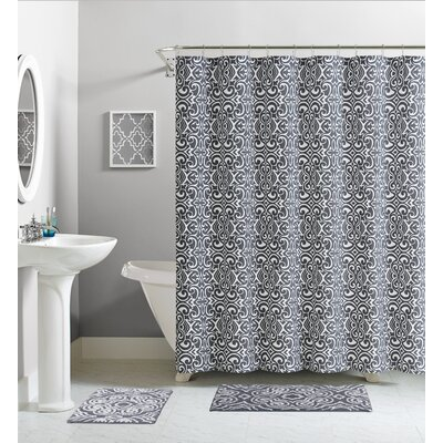 Cotton Shower Curtain Color: Gray