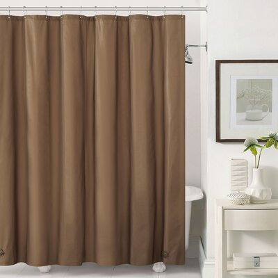 Mildew-Free Peva 6 Gauge Heavy Weight Shower Liner Color: Chocolate