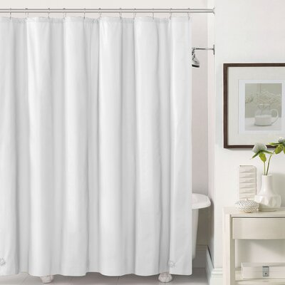 Mildew-Free Peva 6 Gauge Heavy Weight Shower Liner Color: White