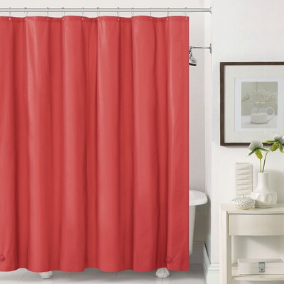 Mildew-Free Peva 6 Gauge Heavy Weight Shower Liner Color: Red
