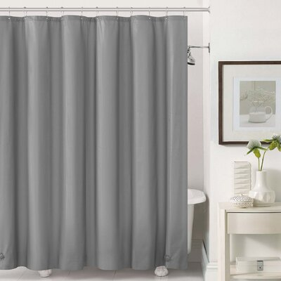 Mildew-Free Peva 6 Gauge Heavy Weight Shower Liner Color: Gray