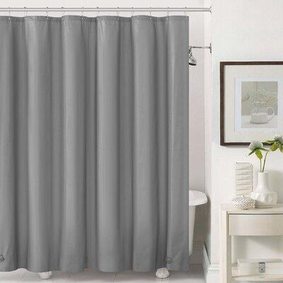 Mildew-Free Peva 6 Gauge Heavy Weight Shower Liner Color: Gray