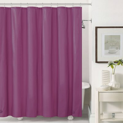 Mildew-Free Peva 6 Gauge Heavy Weight Shower Liner Color: Burgundy