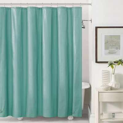 Mildew-Free Peva 6 Gauge Heavy Weight Shower Liner Color: Aqua