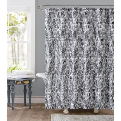 Tile Dobby Shower Curtain Color: Charcoal