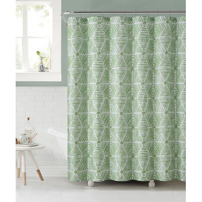 Sailcloth Shower Curtain Color: Green