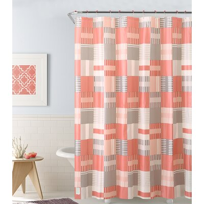 PEVA Shower Curtain Color: Coral