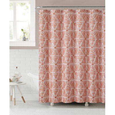 Sailcloth Shower Curtain Color: Orange